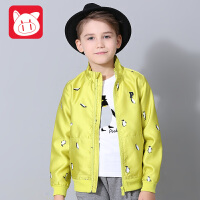 小猪班纳童装儿童棒球服春秋款男童休闲外套拉链衫中大童上衣开衫