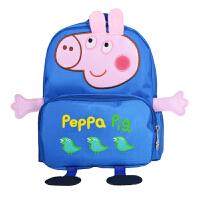 可爱卡通小猪防走失幼儿园小书包1-2-3-4岁5男宝宝女儿童双肩背包 大号蓝色(3-5岁)