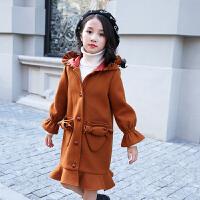 女童呢子大衣2017新款韩版中大童10-12岁季中长款加厚毛呢外套