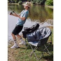 【6.18正日子享受68折】伯希和户外折叠椅子便携式可折叠靠背出游露营椅子出行旅游沙滩椅