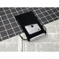 手机收纳袋子绒布小米华为充电宝保护套移动电源收纳包移动硬盘套