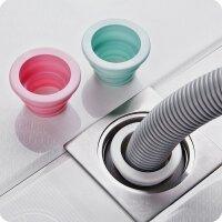 硅胶地漏盖洗衣机浴室厨房管道下水道防堵防虫防臭神器密封圈 颜色随机 1个装
