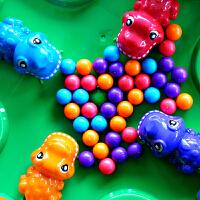 小乖蛋 恐龙游戏 儿童亲子互动益智桌面抖音玩具大号青蛙吃豆游戏