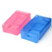 星空夏日 10只 抽屉式鞋盒加厚透明鞋盒镂空款 蓝色