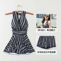 游泳衣女遮肚显瘦时尚韩国ins风保守学生沙滩裙式超仙连体温泉泳装