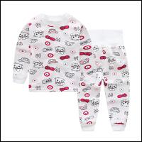 保暖内衣高腰护肚套装男女童加绒内衣宝宝婴儿家居服