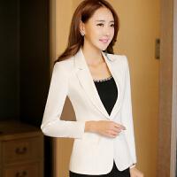 小西装女外套韩版春秋长袖ol修身显瘦气质淑女西服短款百搭工作服