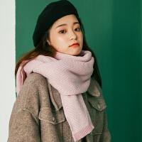 围巾女冬季韩版百搭学生加厚保暖仿羊绒长款毛线披肩情侣围脖两用