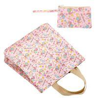 购物袋防水手提袋 可折叠便携买菜包 妈咪包单肩女包 学生收纳包