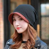 女士产后双层月子帽保暖套头帽子 时尚包头帽防风保暖头巾帽 新款鸭舌帽子女士