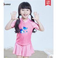 新款时尚可爱舒适儿童泳衣 女童中大童儿童游泳衣