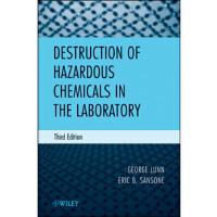 【预订】Destruction of Hazardous Chemicals in the Laboratory 978