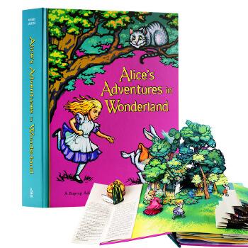 【中商原版】原版Alices Adventures in Wonderland爱丽丝梦游仙境立体书 手工制作 豪华立体书 百年经典