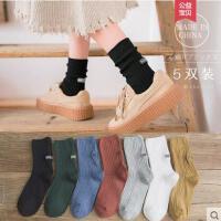 袜子女堆堆袜网红时尚潮流户外新品韩国学院风中筒袜个性潮流中长袜子日系纯棉女袜