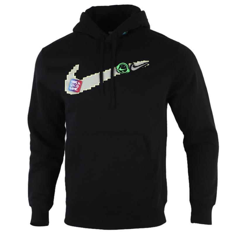 Nike耐克男装运动服休闲加绒保暖卫衣连帽套头衫DC3937-010 运动服休闲加绒保暖卫衣连帽套头衫