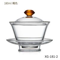 盖碗茶杯单个玻璃家用功夫茶具配件大号加厚手工透明敬茶泡茶