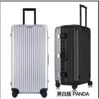 铝框行李箱男出国旅行密码箱女32寸万向轮大容量加厚超轻拉杆28硬 时尚熊猫配色-黑白 轻便耐摔