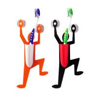 时尚创意小超人挂牙刷架卫浴用品壁挂强力双吸盘式肥皂盒收纳牙膏筒/小超人吸盘牙刷桶牙刷盒牙具座