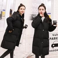 羽绒女中长款冬装2018新款韩版加厚宽松bf面包服小个子棉袄女 X
