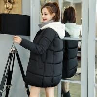 棉衣女中长款2018新款韩版宽松显瘦羊羔毛学生面包服加厚棉外套潮