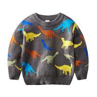 宝宝季恐龙针织衫男童卡通休闲童装2-8岁儿童内搭打底衫男毛衣