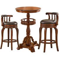 20190402232352341美式吧台椅实木酒吧椅凳子吧台桌家用美式吧凳靠背吧椅旋转高脚凳