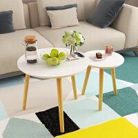 实木茶几沙发边桌北欧风格小圆桌子小茶几现代简约角几边几床头桌