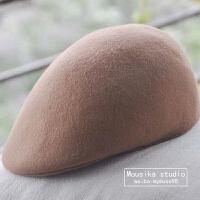 秋冬季帽子女韩版潮羊毛蓓蕾帽贝雷帽画家帽鸭舌帽