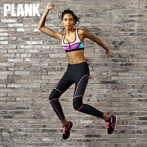 比瘦 PLANK 干爽无缝户外运动裤 拼接时尚跑步运动九分裤 PK014