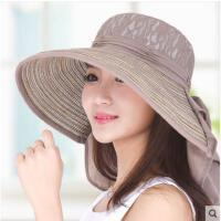 帽子女遮阳帽韩版太阳帽大沿防晒可折叠时尚防紫外线沙滩帽
