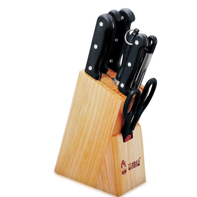 巧媳妇刀具套装套刀八件套厨房刀具不锈钢砍切刀菜刀套装T-358