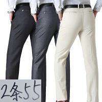 2018新款爸爸裤子春夏季中年男裤中老年宽松长裤薄款男士西裤休闲裤男短裤