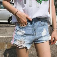 孕妇短裤2018春夏季外穿打底热裤怀孕期托腹牛仔五分裤3-9个月薄 浅蓝色