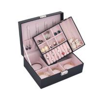 小双层首饰盒 带锁公主欧式饰品盒收纳盒节日礼物礼品