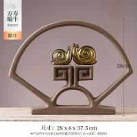 新中式禅意摆件玄关客厅办公室新中式摆件家居饰品创意个性客厅电视柜酒柜小工艺品酒柜装饰陶瓷