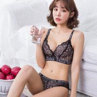 性感蕾丝内衣套装女小胸加厚文胸聚拢无钢圈收副乳防下垂调整型