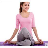 春夏新款创意中长袖瑜伽服套装 舒适 显瘦 柔软滑爽 春夏瑜珈健身服 女