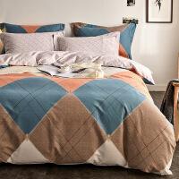 【官方旗舰店】加厚全棉磨毛四件套纯棉床单网红款被套三件套北欧风1.8m床上用品