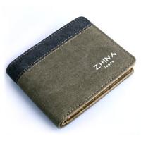男士钱包 帆布休闲卡包 短款钱夹 男女横款票夹 学生零钱包