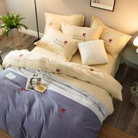 商场同款磨毛四件套棉秋冬加厚保暖棉床单被罩床上4件套加大1.8m欧式