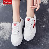【新春惊喜价】Coolmuch女士轻便百搭休闲小白鞋校园女生平底系带板鞋YCS09