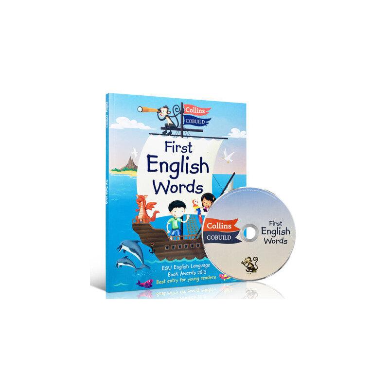 英文原版 Collins First English Words CD 英语图解词典附CD 汪培珽推荐 300个单词阅读学习 3-6岁低幼儿童英语绘本图画书 西文英文亲子绘本馆专营店初级幼儿英文字典儿童读物