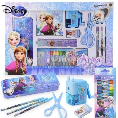 迪士尼小学生文具礼盒用品艾莎冰雪奇缘女童生日礼物儿童学习套装