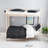 君别学生高低床0.9米床上三件套儿童四件套1.35上下铺床单人1.2m定制 1.5m床 床笠款套件