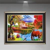 山水风景画公司宾馆室内房间壁画家里床头过道走廊楼梯装饰画挂画