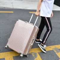 铝框拉杆箱女款男学生行李箱万向轮24镜面旅行箱铝合金密码箱20寸