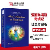 爱丽丝漫游奇境记英文版原版原著 世界经典文学名著 童话故事儿童文学小说 中小学课外读物推荐阅读