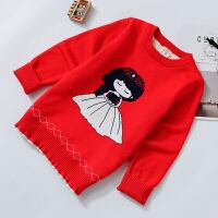 女童毛衣加绒2017秋季新款小公主加厚保暖韩版中小童针织打底衫