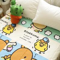 君别可爱卡通轻松熊小黄鸡单件床单床笠儿童床上用品 牛奶熊