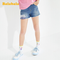 巴拉巴拉女童裤子洋气夏装童装儿童中大童短裤经典牛仔裤休闲百搭